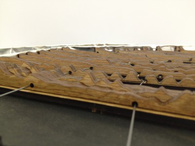 final model : close up of represented terrain and infrastructure