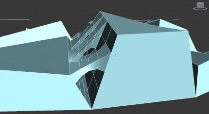 bridge between extruded polygons